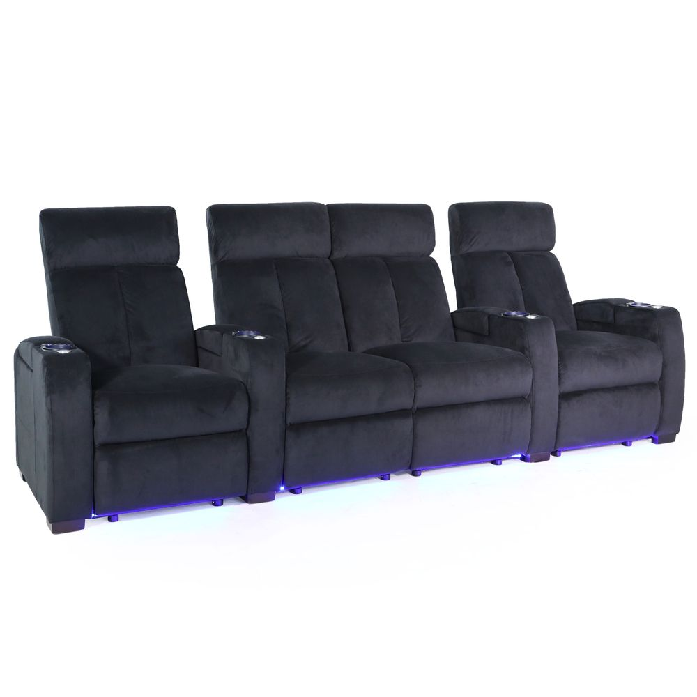 Fabulous Zinea Cinema Seat Action Row Of 4 Loveseat Squirreltailoven Fun Painted Chair Ideas Images Squirreltailovenorg