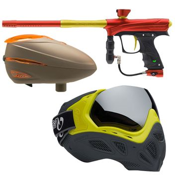 Proto MaXXed Rize - red/gold + Loader Dye R2 Rotor Lava +  Profit Maske LE - Highlighter/Grey