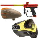 Proto MaXXed Rize - red/gold + Loader Dye R2 Rotor Lava +  Profit  Maske - neon yellow