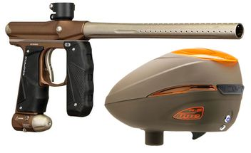 Paintball Markierer Empire Mini GS dust brown / dust bronze + Dye R2 Rotor Loader Lava