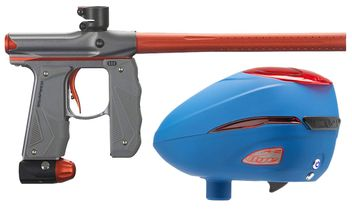 Paintball Markierer Empire Mini GS dust grey / orange + Dye R2 Rotor Loader Patriot