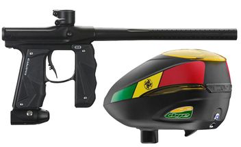 Paintball Markierer Empire Mini GS dust black + Dye R2 Rotor Loader Rasta