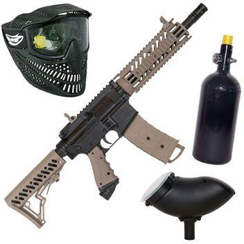 Tippmann TMC HP Set incl. Thermal Mask, 0,8 L HP System&  Loader 200  - black/desert