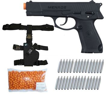 G.I. Sportz Menace cal.50 Paintball Pistole inkl. Holster, 500 Paintballs cal.50 & 30x CO2 Kapseln (12g)