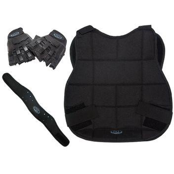New Legion Paintball - Protection Kit black with Halffinger Gloves