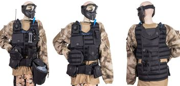 NXe Extraktion Flank Heavy  Vest incl. Base Battlepack &  all additional Pouches - black
