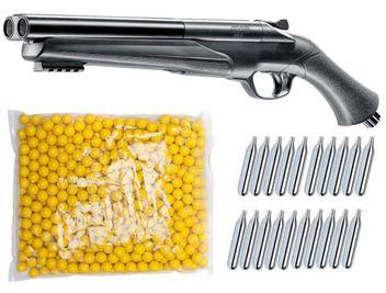 Umarex T4E HDS 68 Double Barrel Paintball Shotgun inkl. 20x 12 Gramm CO2 Kapseln & 500x Paintballs cal.68