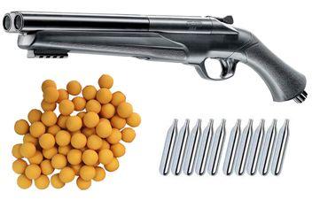 Umarex T4E HDS 68 Double Barrel Paintball Shotgun incl. 10x 12 Gramm CO2 Capsules & 25x Rubberballs cal.68