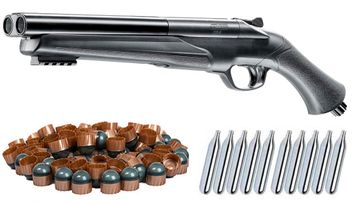 Umarex T4E HDS 68 Double Barrel Paintball Shotgun incl. 10x 12 Gramm CO2 Capsules & 25x First Strike Paintballs