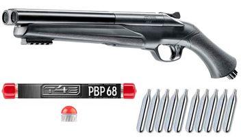 Umarex T4E HDS 68 Double Barrel Paintball Shotgun inkl. 10x 12 Gramm CO2 Kapseln & 10x Umarex T4E PBP 68 Pepperballs Precision