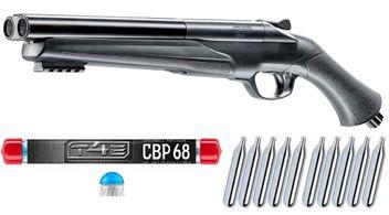 Umarex T4E HDS 68 Double Barrel Paintball Shotgun incl. 10x 12 Gramm CO2 Capsules & 10x T4E CBP 68 Chalkballs