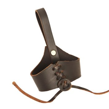 Medieval Holder with Genuine Leather Brown Belt Loop