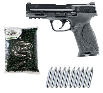 Smith & Wesson M&P9 2.0 T4E cal.43 Home Defense Pistole inkl. 500 Paintballs cal.43 & 10x CO2 Kapseln (12g)
