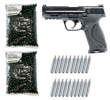 Smith & Wesson M&P9 2.0 T4E cal.43 Home Defense Pistol incl. 1000 Paintballs cal.43 & 20x CO2 Capsules(12g)