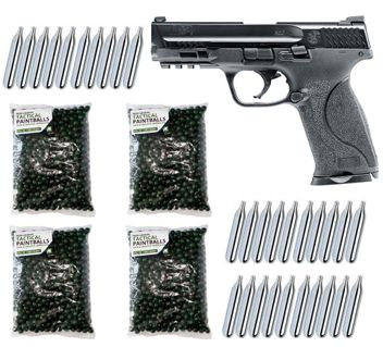 Smith & Wesson M&P9 2.0 T4E cal.43 Home Defense Pistol incl. 2000 Paintballs cal.43 & 30x CO2 Capsules (12g)