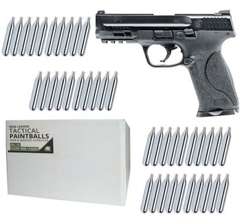 Smith & Wesson M&P9 2.0 T4E cal.43 Home Defense Pistol incl. 4000 Paintballs cal.43 & 40x CO2 Capsules (12g)