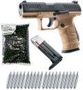 Walther PPQ M2 T4E RAM Pistole cal.43 inkl. Ersatzmagazin, 500 Paintballs cal.43 & 20x CO2 Kapseln (12g) - FDE