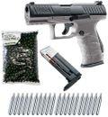 Walther PPQ M2 T4E RAM Pistole cal.43 inkl. Ersatzmagazin, 500 Paintballs cal.43 & 20x CO2 Kapseln (12g) - Tungsten Gray