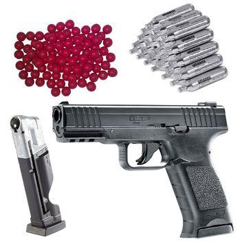 Umarex T4E TPM1 cal.43 Home Defense CO2 Pistole - black - inkl. extra Magazin, 30x CO2 Kapseln und 50x Nylon Balls cal.43