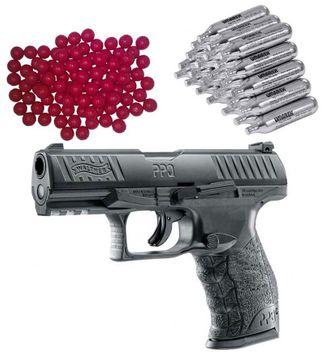Walther PPQ M2 T4E RAM Home Defense Pistol incl. 30x CO2 Capsules and 50x Nylon Balls cal.43