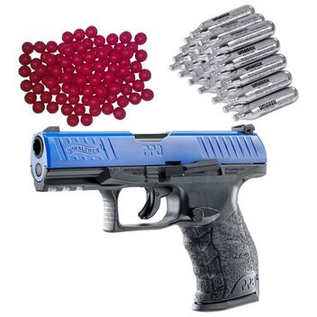 Walther PPQ M2 T4E RAM Home Defense Pistol LE incl. 30x CO2 Capsules and 50x Nylon Balls cal.43