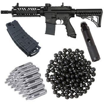 Tippmann TMC Home Defence Paket cal.50 inkl. Quick Change Adapter, 20x CO2 Kapseln, 1x Mag Pack & 100 Rubberballs - black