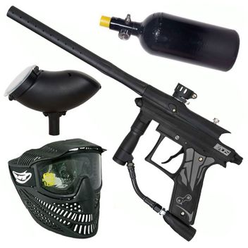 Azodin Kaos 3 HP Paintball Set - black