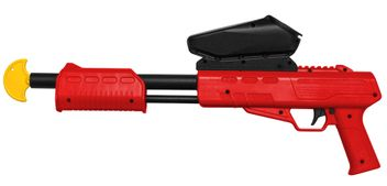 Blaster Kids Markierer Gotcha Gun / Shotgun cal. 50 (0.5 J) inkl. Loader - rot