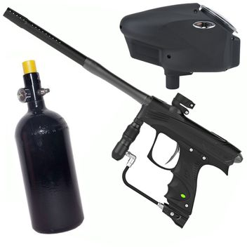 Dye Rize CZR Paintball Package - blk/gry