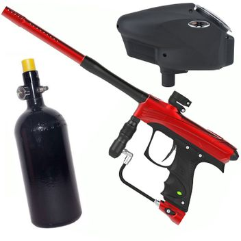 Dye Rize CZR Paintball Package - red/black