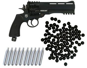 First Strike Roscoe Paintball Revolver cal.50 Home Defense Kit mit 10x CO2 Kapseln & 100 Rubberballs