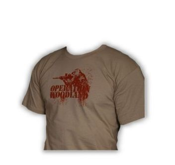 "Paintball T-Shirt Sand ""Operation Woodland"""