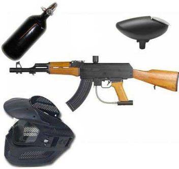 New Legion AK47 HP Paintball Set