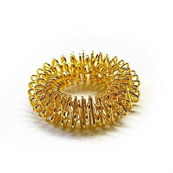 Finger-Reflexzonen Akupressurring Massagering Farbe Gold, Yin groß