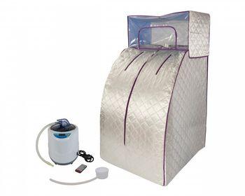 Portable Dampfsauna deluxe, Svedana mit Dampferzeuger 2 Liter, 1000 W, elektronisch geregelt, mit drahtloser Fernbedienung