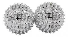 2 Magnetische Akupressurkugeln in silber - klein