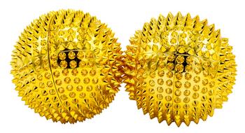 2 Magnetische Akupressurkugeln – gold, mittelgroß