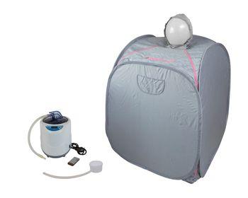 Minisauna mit Kopfhaube, Faltsauna, Svedana, Dampfsauna mit elektornisch geregeltem Dampferzeuger 2 Liter 1000 Watt und drahtloser Fernbedienung
