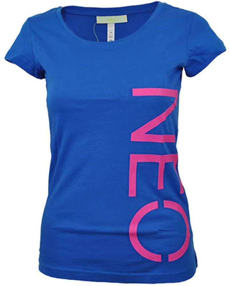 Adidas NEO Logo Shirt Womens Damen Freizeit T-Shirt Blau