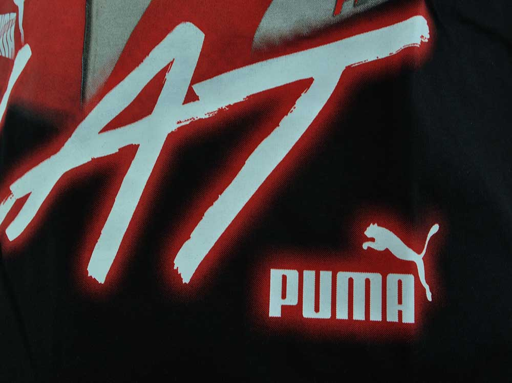 Puma Catch The Cat Tee Herren Training Sport Freizeit T-Shirt Schwarz – Bild 2