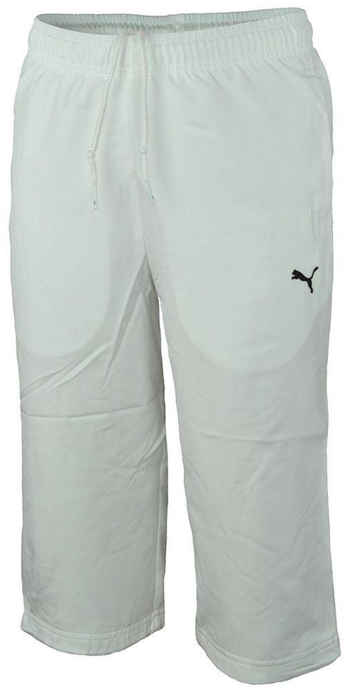 Puma No. 1  3/4 Woven Pants Kinder SportLifestyle Short Kurze Hose Weiß