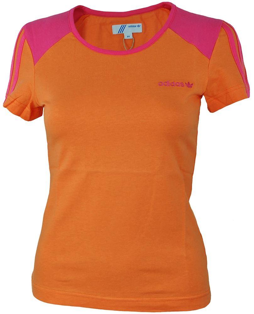 Adidas OB Crew Tee Womens Damen Originals Sport Freizeit T-Shirt Orange