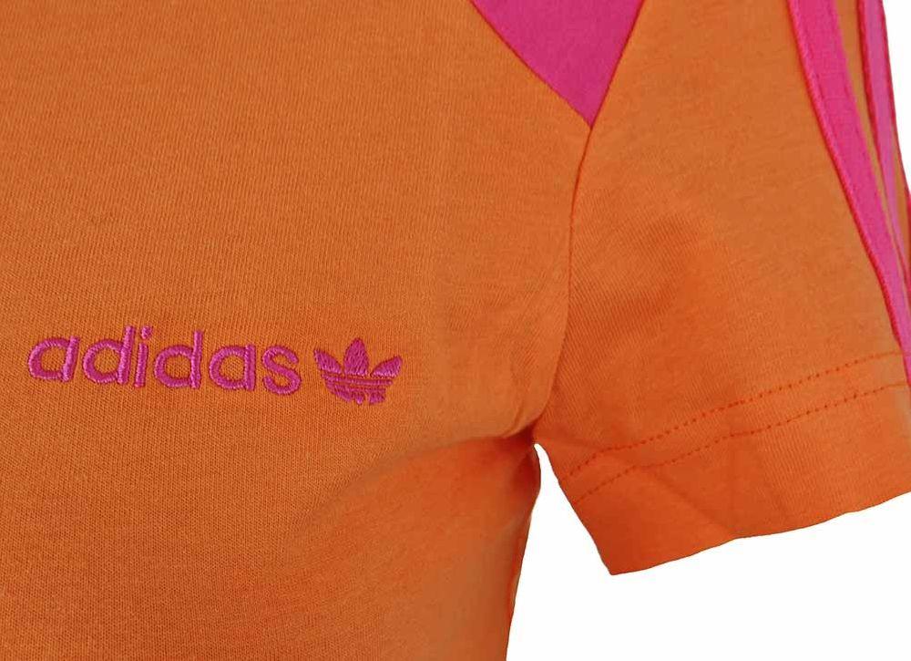 Adidas OB Crew Tee Womens Damen Originals Sport Freizeit T-Shirt Orange – Bild 2