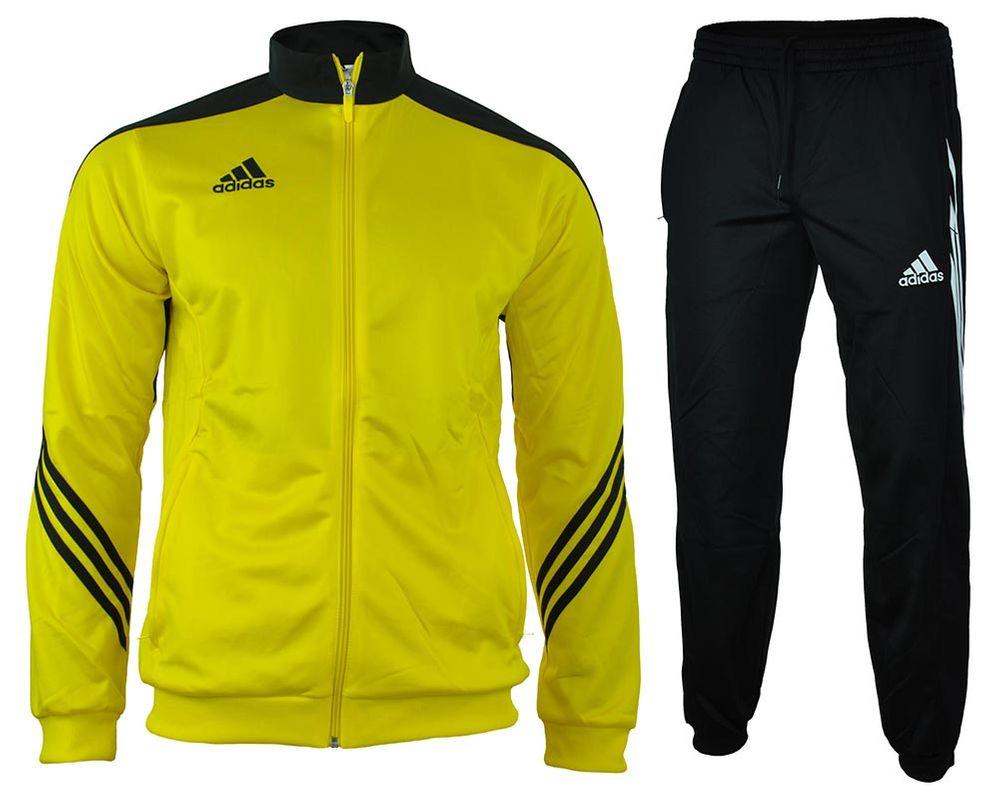 Adidas Sereno 14 Presentation Suit Suit mens men's tracksuit sport suit Yellow
