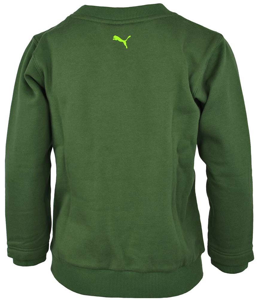 Puma Shift Crew Sweat Junior Kinder SportLifestyle Sweatshirt Pullover Grün – Bild 3