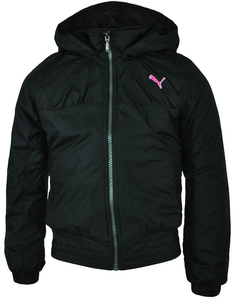 Puma Girls Jacket Kinder Sport Lifestyle Winterjacke Jacke Schwarz