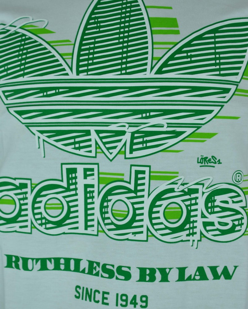 Adidas Graphic Ruthless BY Low Trefoil Tee Mens Herren Originals Shirt T-Shirt Weiß – Bild 2