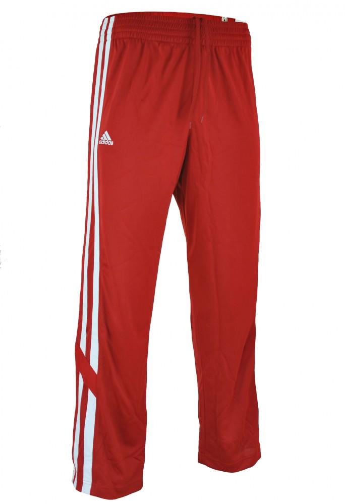 Adidas E Kit 2.0 Snap Pants Mens Herren CLIMALITE Trainingshose Sporthose Rot