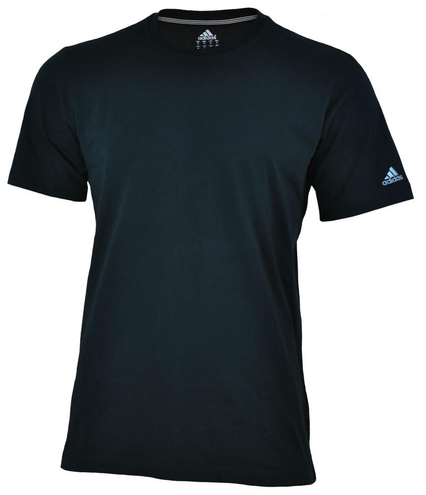 Adidas Essentials Diano Tee Mens Herren ClimaLite Cotton Shirt T-Shirt Schwarz – Bild 1