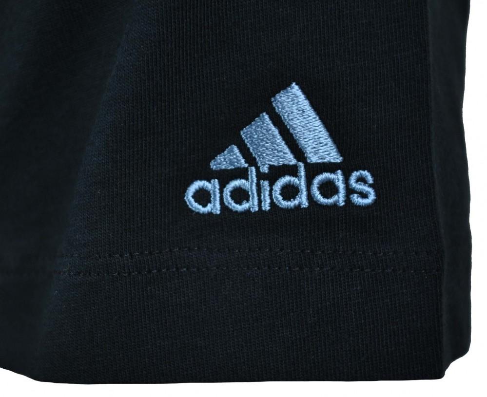 Adidas Essentials Diano Tee Mens Herren ClimaLite Cotton Shirt T-Shirt Schwarz – Bild 2